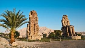 Colossi di Memnon Immagine Stock