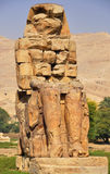 Colossi di Memnon nell'Egitto Fotografia Stock Libera da Diritti