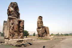 Colossi of Memnom. Memnon colossi near Luxor and Valley of Kings, Egypt Royalty Free Stock Photos