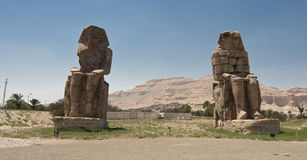 Colossi of Memnon Royalty Free Stock Image