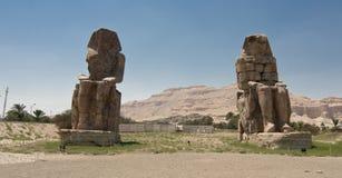 Colossi of Memnon. Near Luxor, Egypt Royalty Free Stock Image