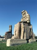 Colossi of Memnon. At Luxor, Egypt royalty free stock images
