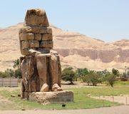 The Colossi of Memnon. Stock Photos