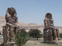 Colossi of Memnon. Stock Photo