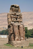 Colossi of Memnon. At Luxor, Egypt (NOTE: Focus is on the statues Stock Photos