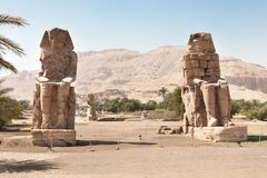 The colossi of memnon giant statues Stock Image