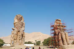 Colossi of Memnon in Luxor Stock Image
