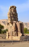 Colossi of Memnon at Luxor. One of Colossi of Memnon. Luxor, West Bank, Egypt Royalty Free Stock Photo