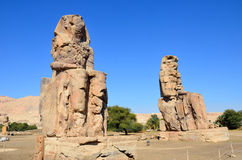 Colossi of Memnon. In Luxor,Egypt Stock Images