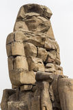 The colossi of Memnon Luxor, Egypt. Royalty Free Stock Photography
