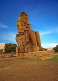 The Colossi of Memnon, Luxor, Egypt Royalty Free Stock Photography