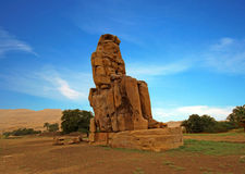 The Colossi of Memnon, Luxor, Egypt Royalty Free Stock Photos