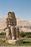 Colossi of Memnon. Statue Colossi of Memnon in Luxor in Egypt Stock Photography