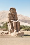 The colossi of memnon. Statue Of Pharaoh Amenhotep Iii, Luxor, Egypt Royalty Free Stock Images