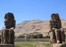 The Colossi of Memnon. Royalty Free Stock Photos
