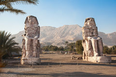 Colossi of Memnon. Valley of Kings, Luxor, Egypt Royalty Free Stock Image