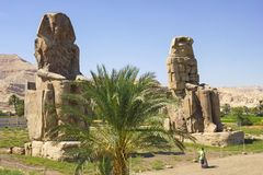 Colossi of Memnon, Valley of Kings, Luxor, Egypt stock images