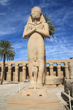 Colossi of Ramses II. The colossi of Ramses II in the Temple of Amun in Karnak near Luxor, Egypt royalty free stock images