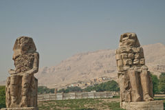 Colossi at Valley of the Kings Stock Image