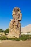 Colossi van Memnon Egypte Royalty-vrije Stock Fotografie