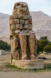 Colossi van Memnon in Luxor in Egypte Stock Foto's