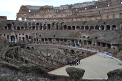 Colossium ruin visit by Tourists in Rome Royalty Free Stock Photos