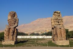 Colosso de Memnon Fotos de Stock