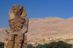 Colosso di Memnon fotografia stock libera da diritti