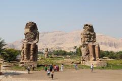 Colossos de Memnon Imagens de Stock Royalty Free
