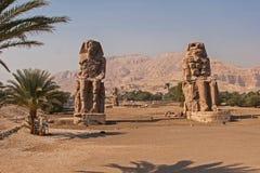 Colossos de Memnon, Luxor, Thebes Egito foto de stock royalty free