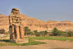 Colossus of Memnon Stock Image