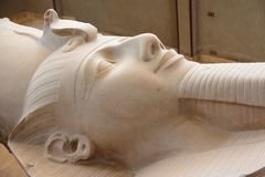 The colossus of Ramses II in Memphis, Egypt. Royalty Free Stock Images