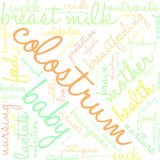 Colostrum Word Cloud. On a white background Stock Images