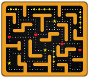 Coloted Crazy Maze Stock Photography