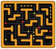 Coloted galen Maze Arkivbild