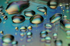 Colouer water drops Royalty Free Stock Images