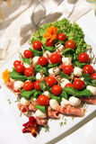 Colouful appetizers on a plate Stock Photos