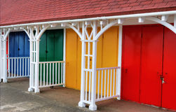 Colouful Beach Huts Royalty Free Stock Photos