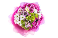 Colouful bouquet of flowers isolated on white background Stock Photo