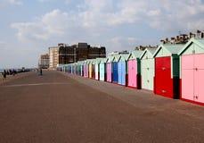 Colouful Chalets in Brighton Stockbild