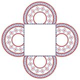 Colouful Henna frame Stock Image