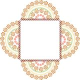 Colouful Henna frame Royalty Free Stock Photography