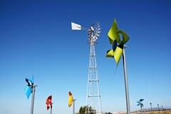Colouful windmills Stock Photography