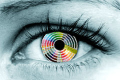 colour ögonhjulet Royaltyfri Bild