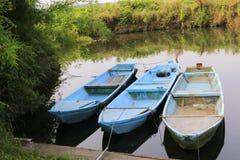Colour łódź obraz stock