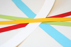 Colour. Different colored paper in dynamic arrangement Royalty Free Stock Images