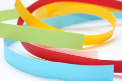 Colour. Different colored paper in dynamic arrangement Royalty Free Stock Image