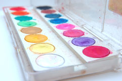Colour. Ful water  tray Stock Photos
