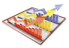 Colour 3d Bar Graph Stock Images