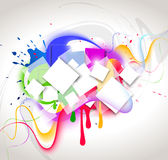 Colour abstract composition. Vector illustration Stock Image